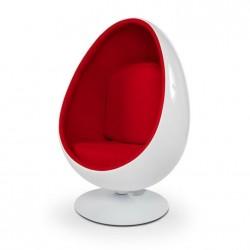 Fotel OVALIA biało-czerwony...