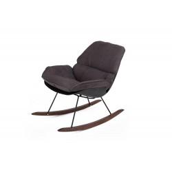 Fotel bujany NINO czarny -...