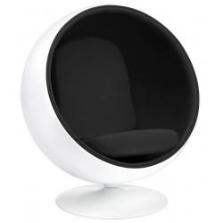 Fotel BALL biało-czarny -...