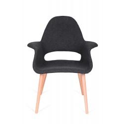 Fotel PLUSH ARM grafitowy -...