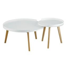 Zestaw stolików BANCO białe...