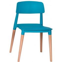 Krzesło ECCO turkusowe -...