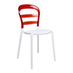 Krzesło CARMEN czerwone -...