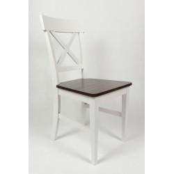 Krzeslo Cross buk białe...