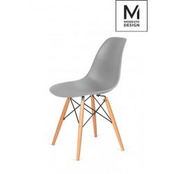MODESTO krzesło DSW szare - podstawa bukowa
