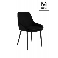 MODESTO krzesło CLOVER czarne - welur, metal