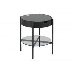 ACTONA stolik szklany TIPTON czarny - szkło, metal
