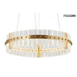 MOOSEE lampa wisząca SATURNUS 47 złota - LED, szkło stal szczotkowana
