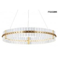 MOOSEE lampa wisząca SATURNUS 70 złota - LED, szkło, stal szczotkowana