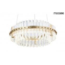 MOOSEE lampa wisząca SATURNUS 47 DUO złota - LED, szkło, stal szczotkowana