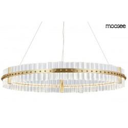 MOOSEE lampa wisząca SATURNUS 85 złota - LED, szkło, stal szczotkowana