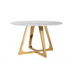 RICHMOND stół DYNASTY 130 złoty  - marmur