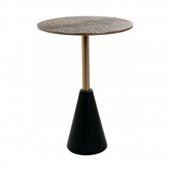 RICHMOND stolik kawowy COBRA 40 czarno-złoty