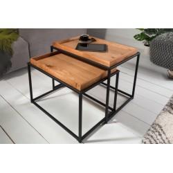INVICTA zestaw stolików ELEMENTS czarne - MDF, metal
