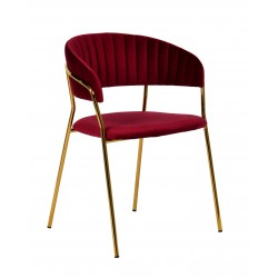 Krzesło MARGO burgund -...