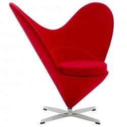 Fotel SERCE czerwony -...