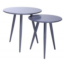 Zestaw stolików LEO szare -...