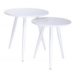 Zestaw stolików LEO białe -...