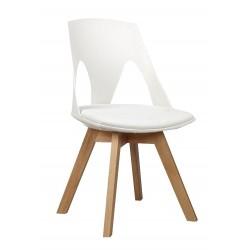 Krzesło HOLEY białe z białą...