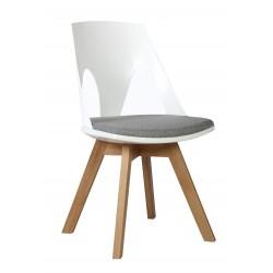 Krzesło HOLEY biały z szarą...
